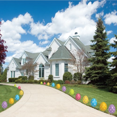 Easter Egg Pathway Markers - FLAT Easter Yard Decorations