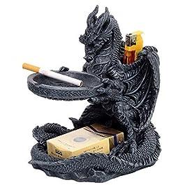 Cenicero con Soporte Forma de Dragón Set para Fumador
