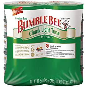 hunk Light Tuna in Water - 10 Can Pack 10-5oz. Cans: Amazon.com