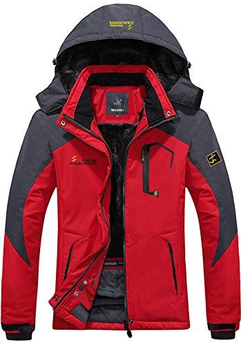 Wantdo Women's Waterproof Mountain Jacket Fleece Windproof Ski Jacket(US L) (Ski Jacket Women Insulated compare prices)