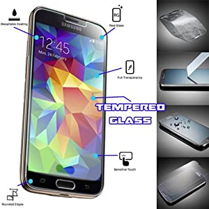 """G4GADGET® Samsung S5 """"Anti-Explosion"""" Tempered Glass Crystal Clear Screen Protector for Samsung Galaxy S5"""