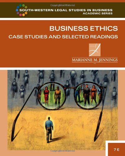 Business Ethics: Case Studies And Selected Readings (South-Western Legal Studies In Business Academic) front-402909