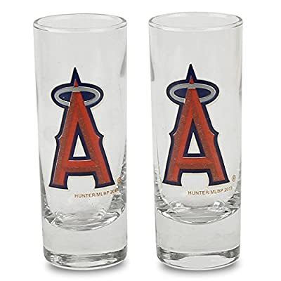 MLB Color Team Logo 2oz Cordial Shot Glass 2-Pack