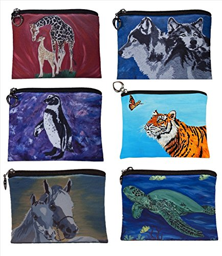 Change-Purse-Vegan-Coin-Purse-Animals-From-My-Original-Paintings-Support-Wildlife-Conservation-Read-How-Animals