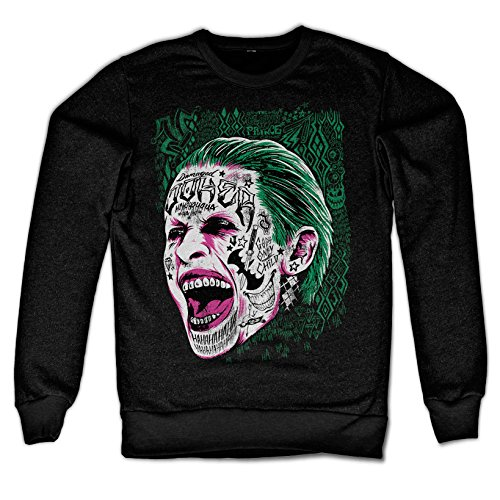 Officially Licensed Merchandise Suicide Squad Joker Sweatshirt (Black), Medium