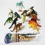 """MICHLEY """"Volvamos al Período Jurásico"""" 12pcs Mini Dinosaurios Diferentes y 1pc Árbol con Tubo Plástica Portátil"""