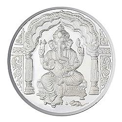 Sri Jagdamba Pearls 10 Grams Ganesh Silver Coin 99.9 % Purity