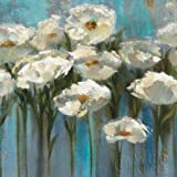 Anemones By The Lake By Vassileva, Silvia Art Print On Canvas 18x18 Inches