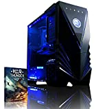 VIBOX Warrior 4 - Fast 4.0GHz 6-Core, High Spec, Desktop Gaming PC, Computer with WarThunder Game Bundle, Neon Blue Internal Lighting Kit PLUS a Lifetime Warranty Included* (AMD FX 6300 Six Core Processor, 2GB Nvidia Geforce GTX 960 HDMI Graphics Card, High Grade 500W PSU, 1TB HDD Hard Drive, 8GB 1600MHz RAM, DVD-RW, SD Memory Card Reader, No Operating System)