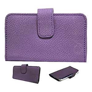 Jo Jo A8 G8 Leather Carry Case Cover Pouch Wallet Case For Philips Xenium X2566 Purple