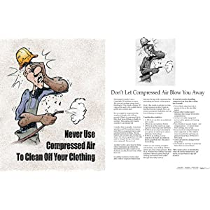 Tool Safety Poster - Never Use Compressed Air To Clean Off Your