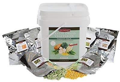 Chefs Banquet Freeze Dried Vegetable Variety Bucket-320 Servings