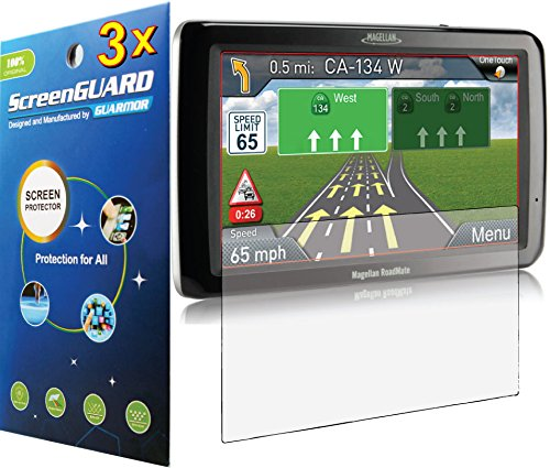 3X Magellan Roadmate 9212T-Lm 9250T 9250T-Lmb Gps Premium Clear Lcd Screen Protector Cover Guard Shield Film Kit (Package By Guarmor)