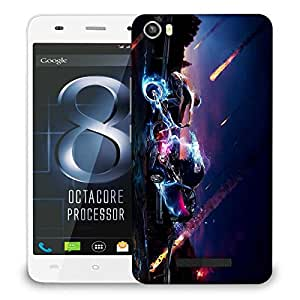 Snoogg Meteor Wreck Designer Protective Phone Back Case Cover For LAVA IRIS X8