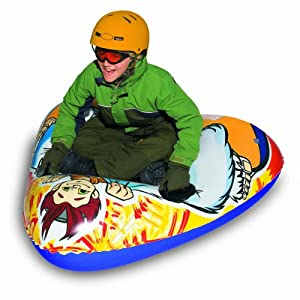 Buy Aqua Leisure Winter Inflatable Yeti Snow Triangle Wedge Tube Sled for 1 ( One ) Single Rider on Sledding Hill, Fast yet... by Aqua Leisure