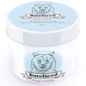 Barefaced Skincare Dead Sea Facial Mud Mask - Natural Anti Aging Treatment For All Skin Types - 6oz