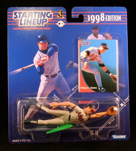 CHIPPER JONES / ATLANTA BRAVES 1998 MLB Starting Lineup Action Figure & Exclusive Collector Trading Card