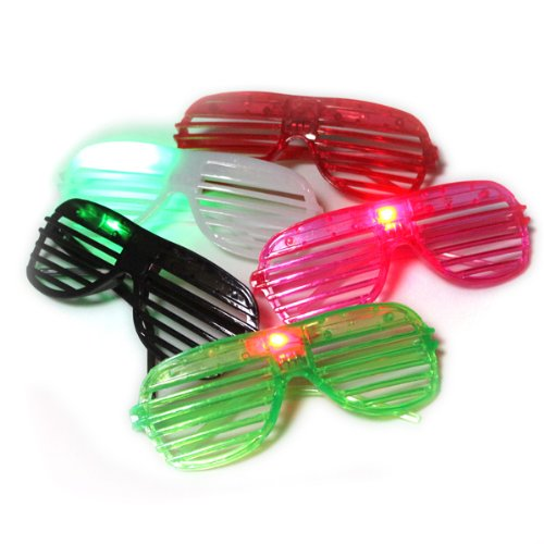 50 Pairs of LED Flashing Light Up Party Shades Glasses
