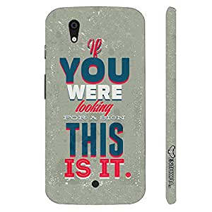Micromax Canvas A1 This Is It! designer mobile hard shell case by Enthopia