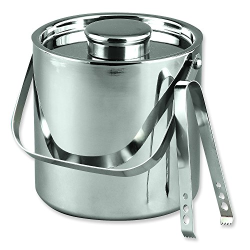 Stainless Steel 3 Quart Ice Bucket W/Tongs