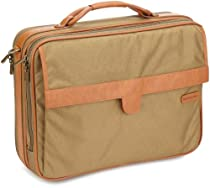 Hartmann Packcloth Overnight Bag and Briefcase, Khaki, One Size
