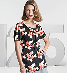125 Years Longline Belted Tulip Top - Marks & Spencer :  short sleeves retro spencer belted