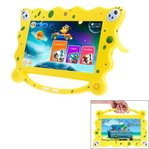 Am7C08 7.0 Inch Lcd Screen, Android 4.2 A23 Dual Core 1.5Ghz Kids Education Tablet Pc With Wi-Fi, 512Mb Ram + 8Gb Rom(Yellow) front-230820