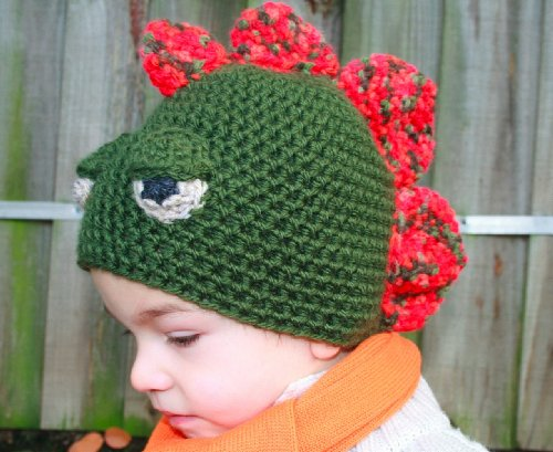 Crochet Pattern Crochet boys dinosaur hat includes 4 sizes from newborn to adult (Crochet Animal hats Book 1)