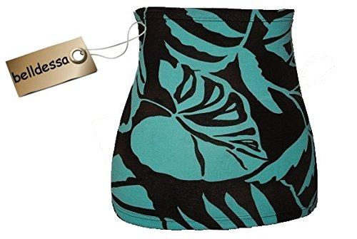 3-in-1-Jersey-Nierenwrmer-Shirt-Verlngerer-modisches-Accessoire-Baumwolle-braun-trkis-bunt