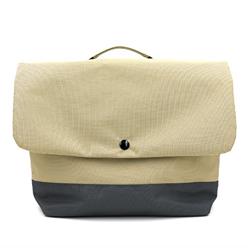 KOSOX Single Shoulder Lunch Bag / Tote, Simple & Fashionable Sling Bag for Shopping, Traveling, or Organizing Daily Articles (Khaki)