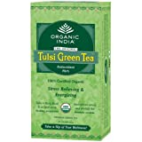 Tulsi Green Tea 25 Tea Bags - By Organic India Pack Of 3