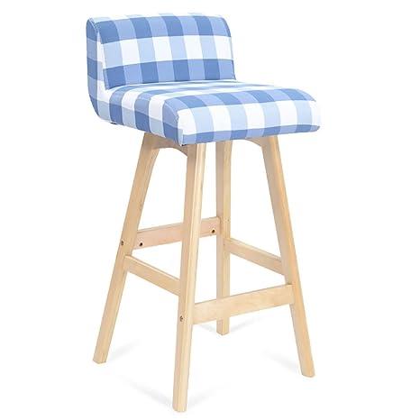 Cdblchandelier Silla de la barra de madera maciza taburete de bar / taburete de barra simple / taburete de bar de alta retro / silla de la barra europea frente Silla plegable ( Color : B )