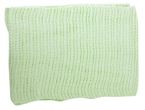 Baby Cellular Allergy Free 100% Cotton Pram Blanket (6 Colours) (75cm x 100cm) (White)