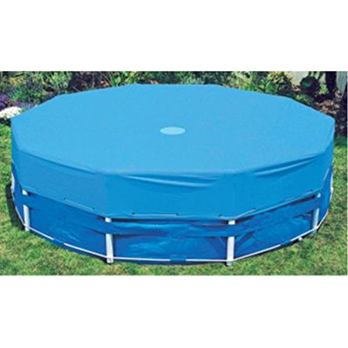 Intex 15 ft metal frame above ground pool cover home for Garden pool accessories