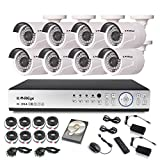 KAREye 1080N 16CH Video Security System 8 Bullet IP66 Weatherproof Camera,Outdoor Indoor Day Night IR-CUT CCTV Surveillance System,100ft Night Vision,1TB HDD