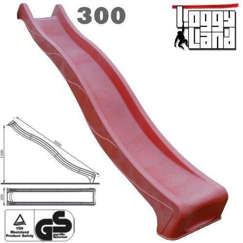 Anbaurutsche Wellenrutsche 3m rot – TÜV/GS jetzt bestellen