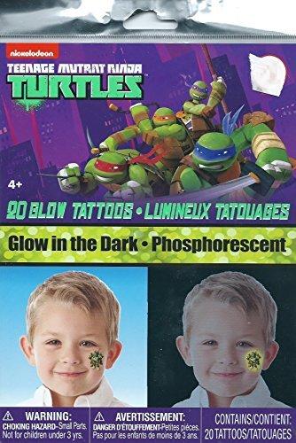 Teenage Mutant Ninja Turtles Glow in the Dark Tattoos