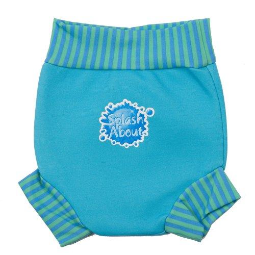 Splash About Neoprene Happy Nappy (Swim Diaper), Turquoise With Blue Lagoon Rib, Xx Large (Toddler)