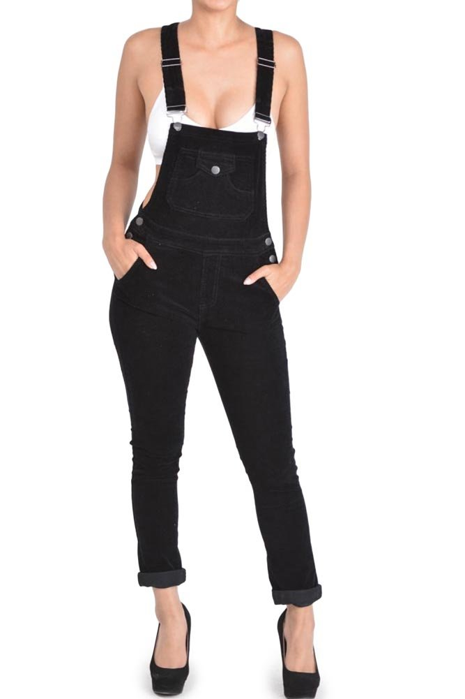 G-Style USA Women's Corduroy Overalls 0