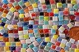 150 Stück Mini Mosaiksteine keramik bunt ca. 35 Farben a