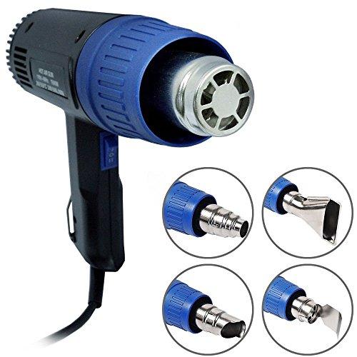 Heat Gun Hot Air Gun Dual Temperature + 4 Nozzles Power Tool 1500 W (Heating Gun compare prices)