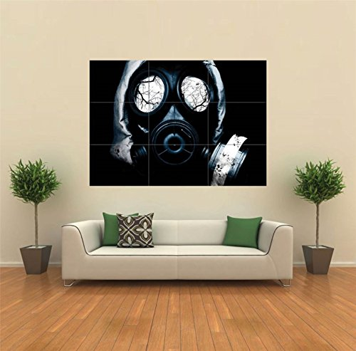 BLACK GAS MASK HORROR GOTHIC NEW GIANT POSTER WALL ART UNIQUE PRINT PICTURE G111 (Gas Mask Picture compare prices)