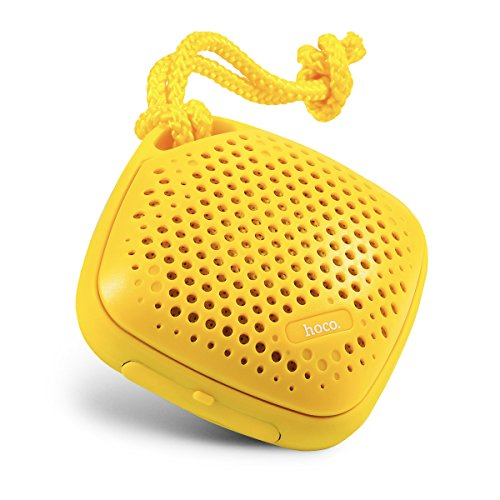 HOCO Portable Wireless Outdoor Sports Waterproof Bluetooth Speakers with Microphone and Sling (Yellow)