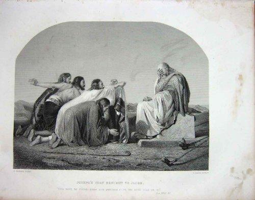 TESTAMENTO di JACOB del CAPPOTTO di JOSEPH di SCENA della BIBBIA SANTA c1890