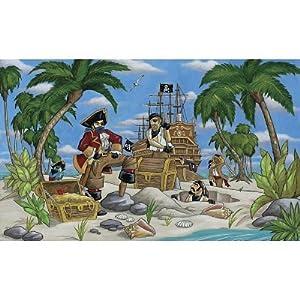 99x164 pirates burying treasure huge wall mural for Amazon mural wallpaper