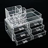 Vieworld Acrylic Cosmetic Organizer, 14 Compartments, Clear