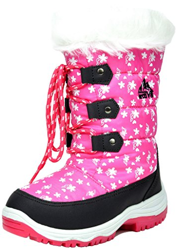ARCTIV8 NORDIC New Girls Insulated Faux Fur Lining Insole Lace Up/Zipper Warm Winter Snow Skii Boots Pink Size 13 (Pink Insulated Boots compare prices)