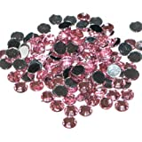 Pack of 1000 x Light Pink Crystal Flat Back Rhinestone Diamante Gems 4mm