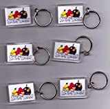 Angry Birds Key Rings, Party Bag Fillers. Pack of 6