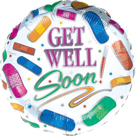 Get Well Amscan Mini Balloon